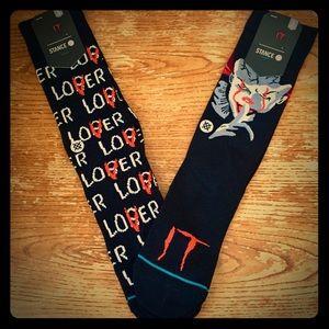 🔥👻 NEW Stance x 'IT' Socks Horror 2pk RARE 👻🔥